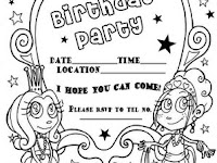 Birthday Party Invitation Coloring Pages