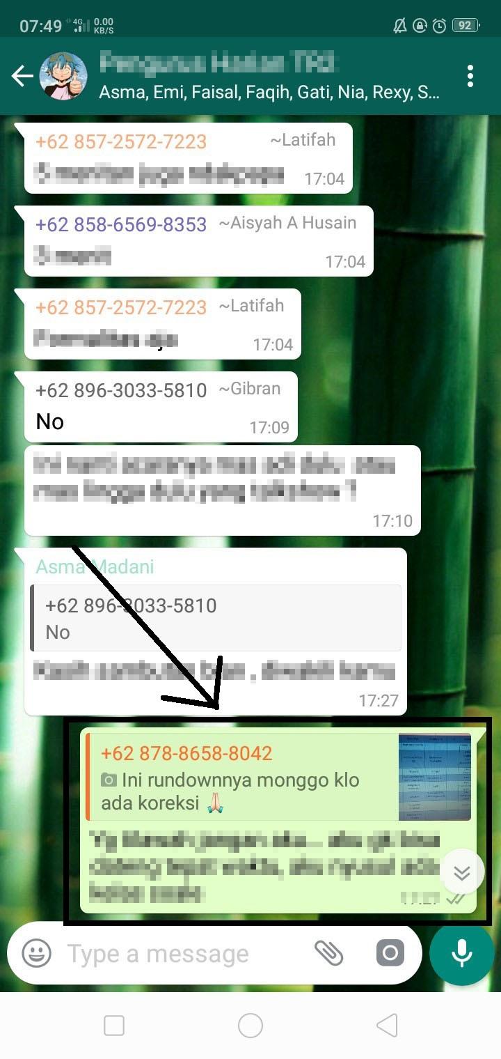 Cara Mengetahui Yang Telah Membaca Pesan Pada Grup WhatsApp