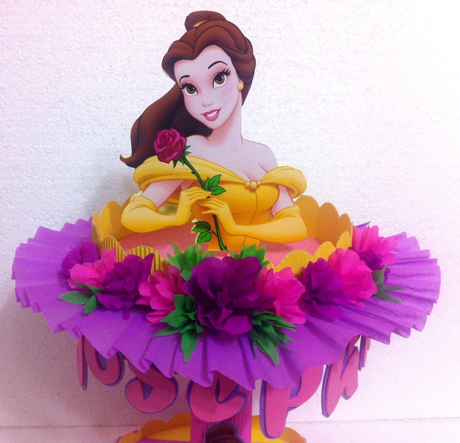 Decoraciones infantiles dulcero princesa bella - Fiestas de cumpleanos de princesas ...