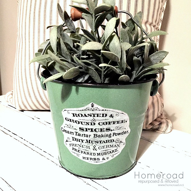 Adding an Image to an Enamelware Pail Planter
