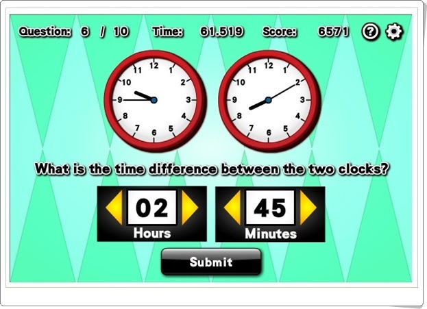 """Time difference"" (Juego de diferencias horarias)"