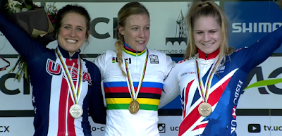 Podium championnat du monde cyclo-cross Worst Nobble Richards