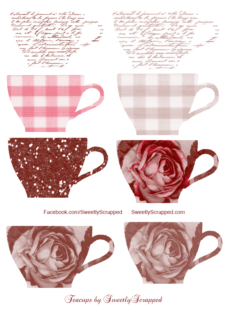 Your Free Teacup Printable | Art Blog, Tea Party Games and ...