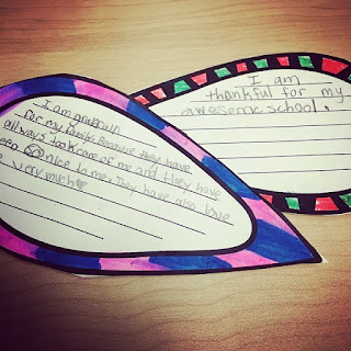 """Student project/ scenery for an elementary music program, based off the book """"The Gratitude Tree."""" Blog post also includes song and dance suggestions!"""
