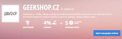 Geekshop - sleva z každého nákupu