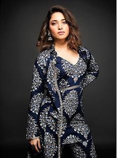 Tamannah Bhatia In Blue Dress