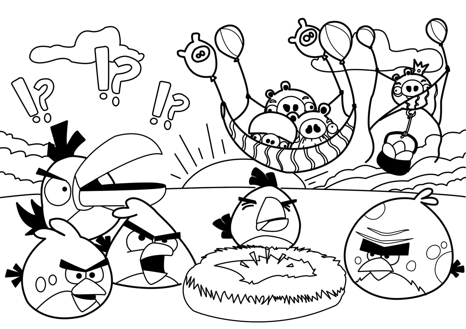 New Angry Birds Coloring Pages | All Free Coloring Page ...