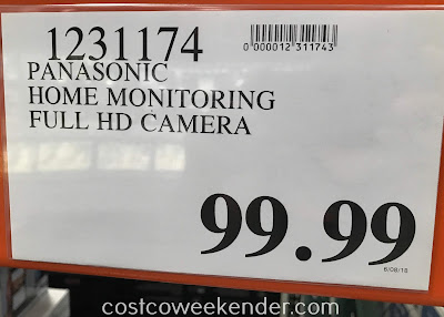 Deal for the HomeHawk by Panasonic Indoor Home Monitoring Camera (KX-HN1003W) at Costco