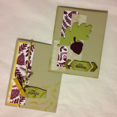 Stampin' Up Color Me Autumn Gratitude for Days Card Idea