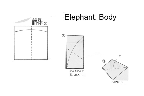 nobi u0026 39 s bilingual blog  english  origami elephant