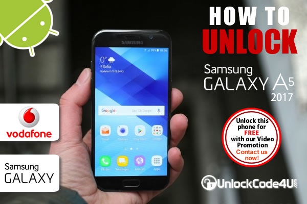 Factory Unlock Code Samsung Galaxy A5 2017 from Vodafone