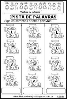 Formando palavras com a letra L