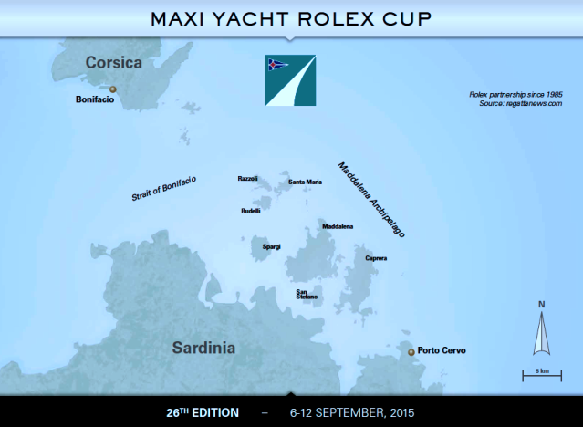 Maxi Yacht Rolex Cup, Course Map