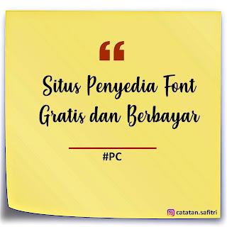Situs Penyedia Font Gratis