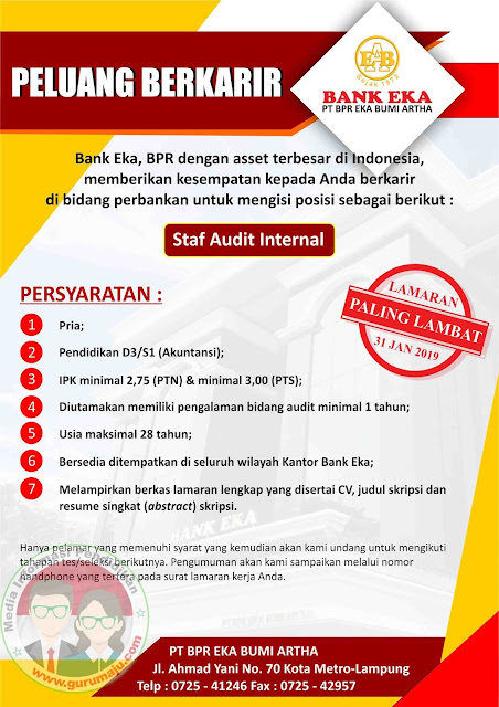 Lowongan Kerja PT. Bank Eka Metro Tahun 2019