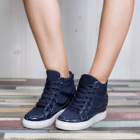 Sneakers dama Estelle albastri confortabili • modlet