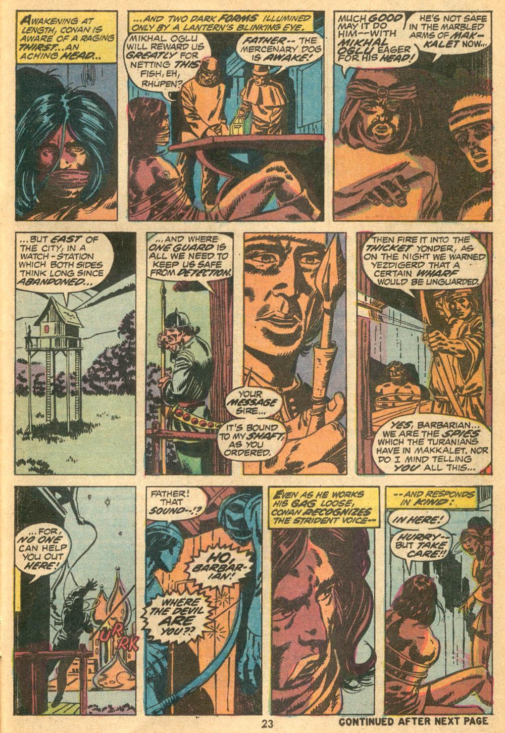 Conan the Barbarian (1970) Issue #23 #35 - English 17