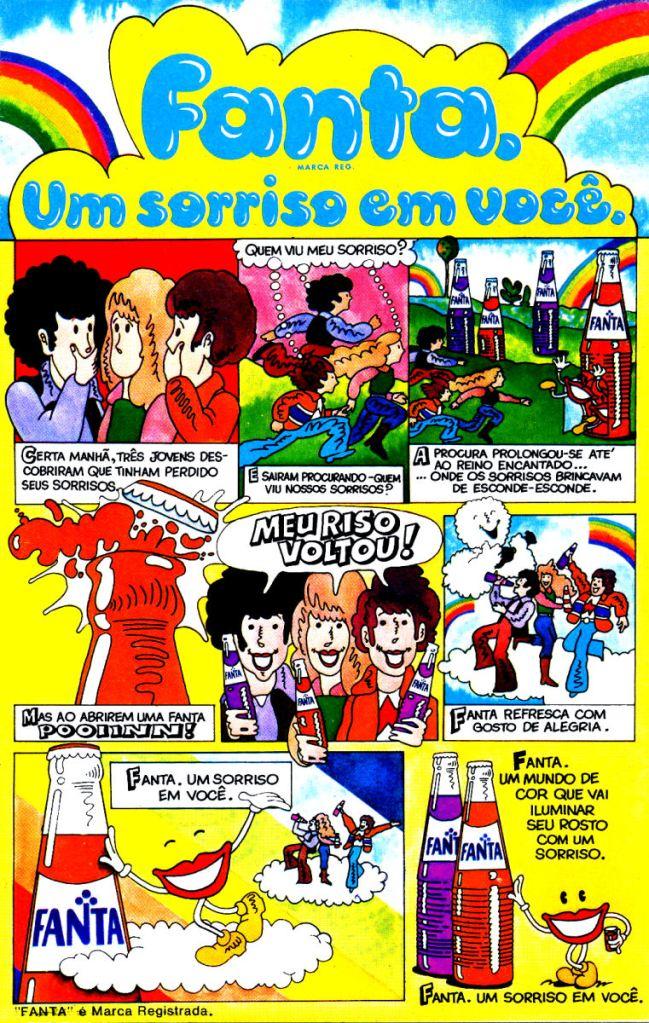 Propaganda antiga da Fanta Laranja e Uva veiculada na metade dos anos 70