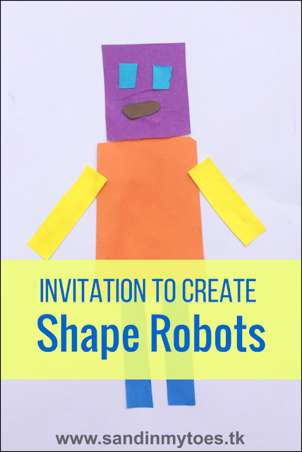 Creating Shape Robots - a craft activity for preschoolers and toddlers that brings out their creativity!