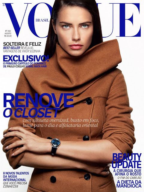 Actress, Model, @ Adriana Lima by Greg Kadel for Vogue Brazil, August 2016
