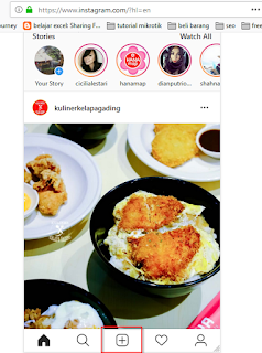 post instagram via pc, posting instagram dari pc, posting instagram di pc