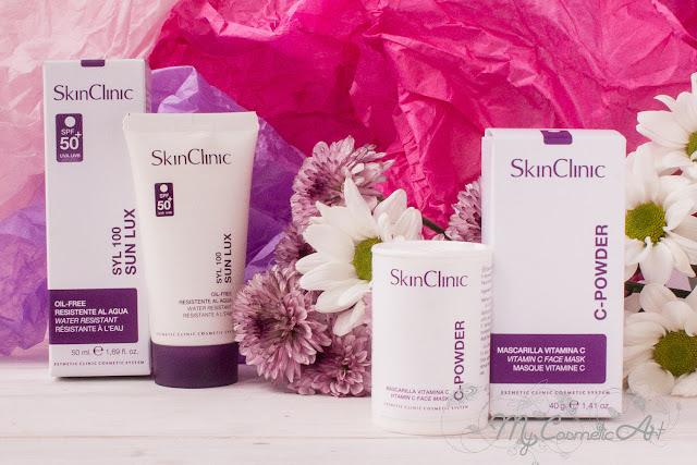 Los viernes al sol pero con protección: Syl 100 Sun Lux, protector solar facial de Skin Clinic. Y C-Powder, mascarilla de Vitamina C.