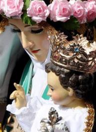 Imagen de Santa Rosa de Lima con el niño Jesús