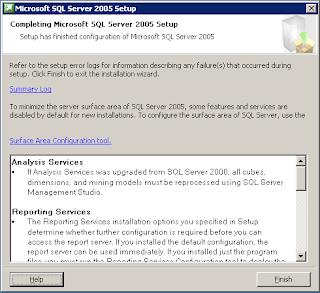 Installasi SQL Server 2005 di Windows Server