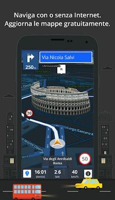 NAVIGATORE GPS ANDROID CON AGGIORNAMENTO MAPPE GRATUITE