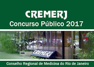 CREMERJ Concurso Público 2017