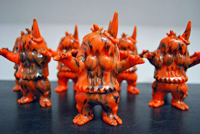 Orange & Black Marbled Halloween Ugly Unicorn Vinyl Figure by Rampage Toys