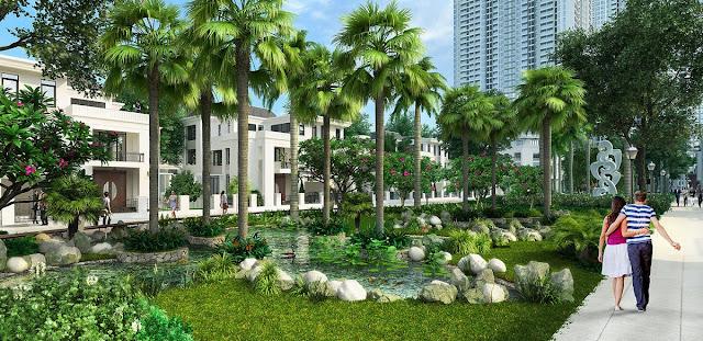Không gian sống xanh tại Palm Garden