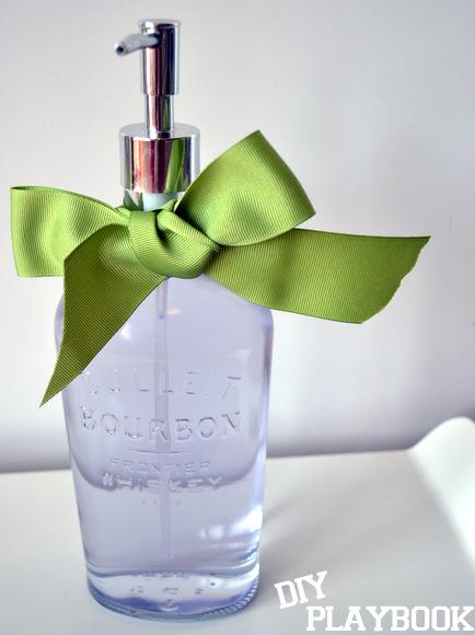 Bourbon bottle soap dispenser