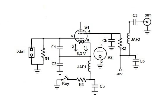 Radio Autocostruzione Qrp Cw Amp Altro 6dq6 Monotube