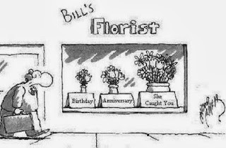Funny short joke story - Bill's florist - birthday - anniversary - caught you