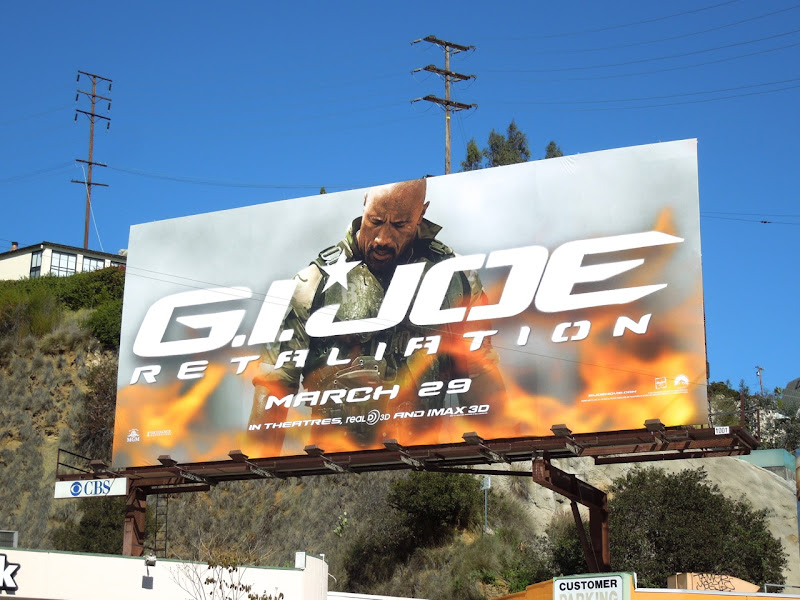 GI Joe Retaliation Roadblock movie billboard