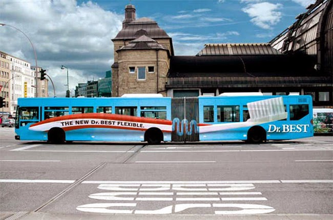 Dr. Best Flex Advertising Campaign for Double Carriage Bus