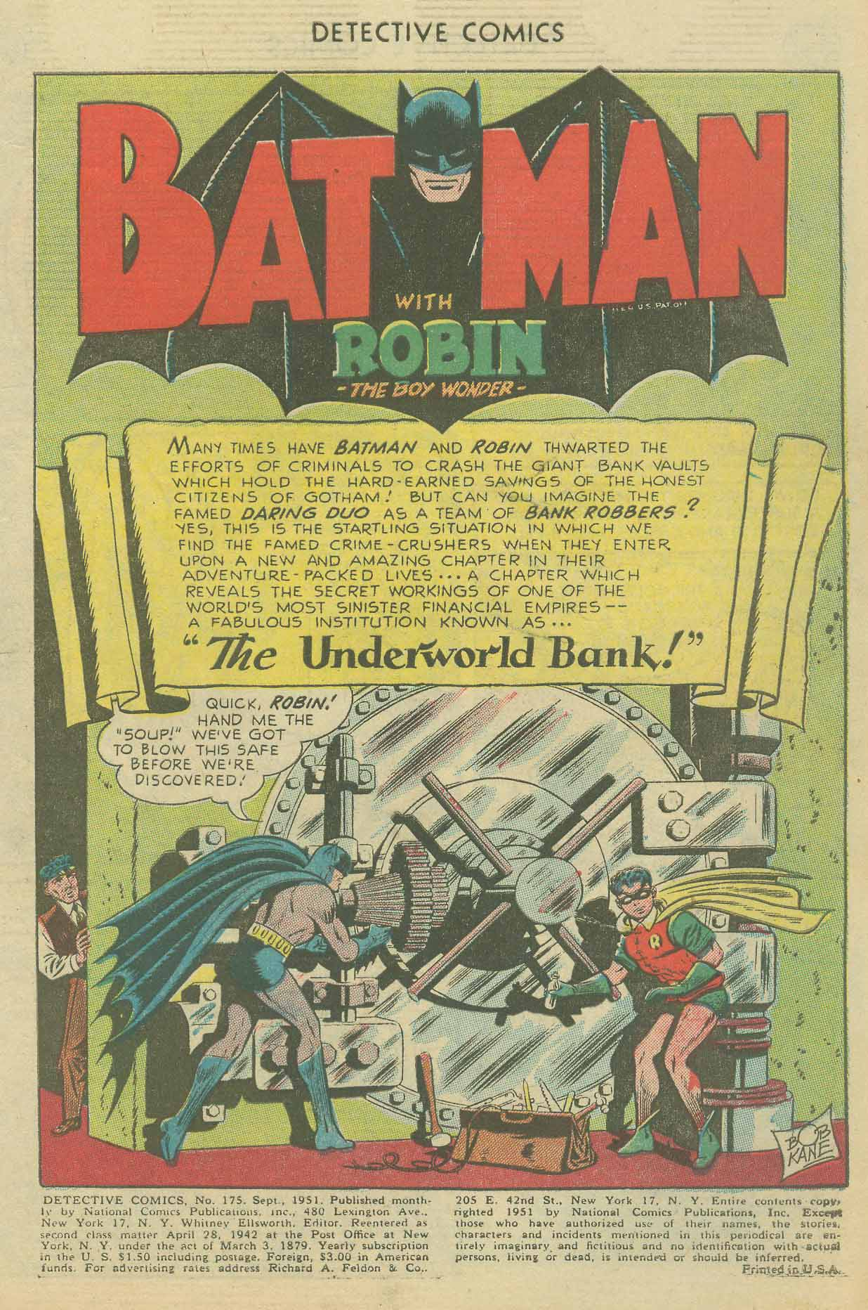 Read online Detective Comics (1937) comic -  Issue #175 - 3