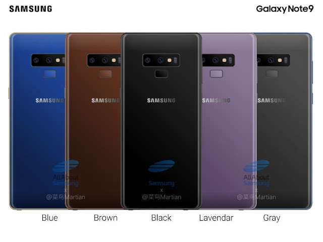 Lima Pilihan Warna Samsung Galaxy Note9