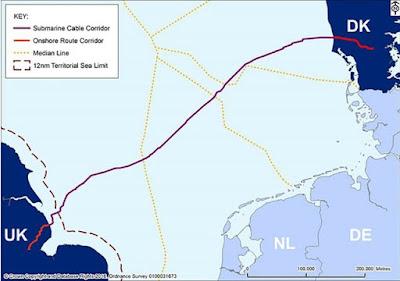 اطول كابل بحري للجهد العالي المستمر HVDC في العالم .