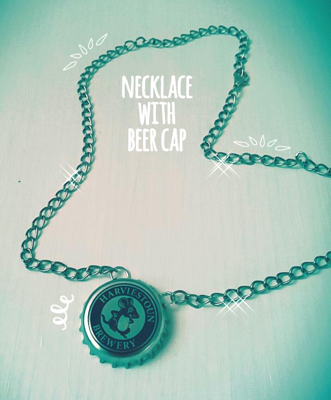 Tutorial: collana con il tappo della bottiglia di birra