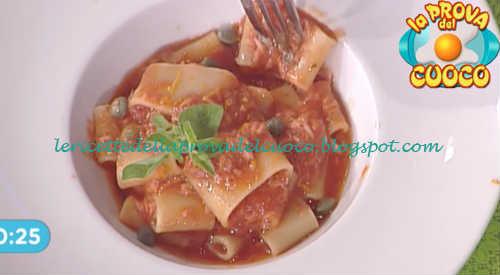 Prova del cuoco - Ingredienti e procedimento della ricetta Calamarata al sugo di tonno e capperi di Francesca Marsetti