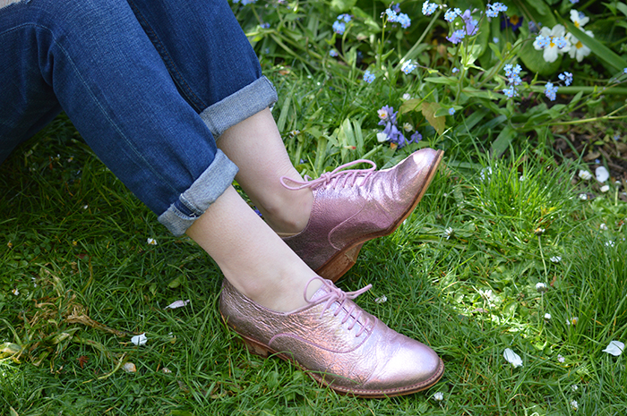 dune brouges metallic pink fashion bloggers