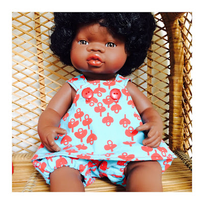 Beautiful African Minland Doll in her Shorties Play suit, Exclusive to Shorties
