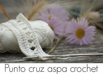 Punto aspa o equis calado en crochet tutorial