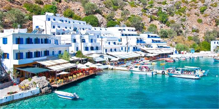 Gli alloggi di Loutro - Creta