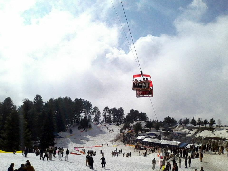 Vsitors Enjoying Lift in  Malam Jabba, Swat Valley,Pakistan