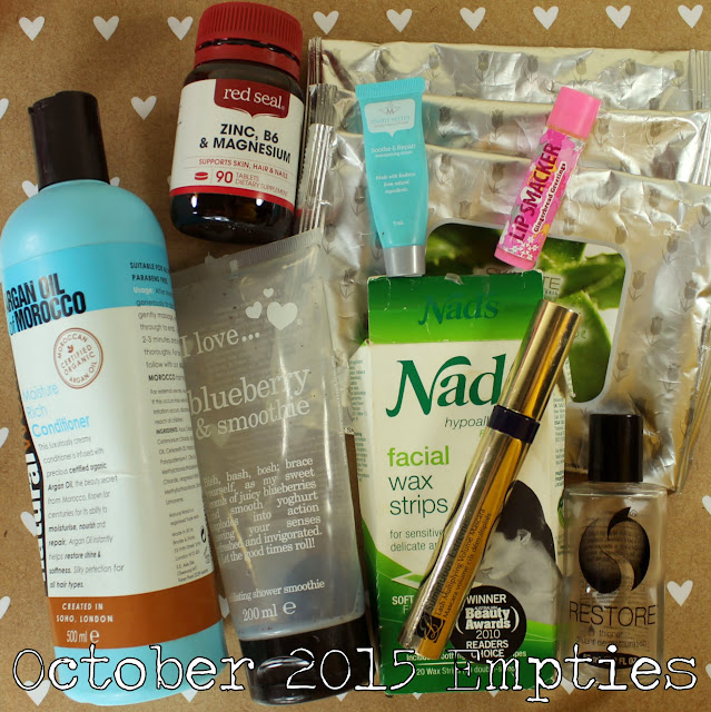 October 2015 Empties