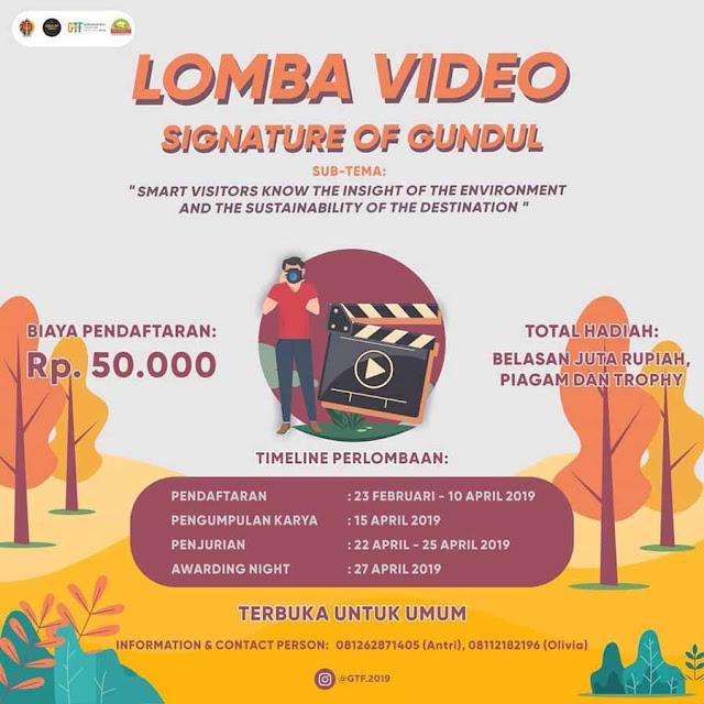 Lomba Video Signature of Gundul 2019 Untuk Umum Terbaru