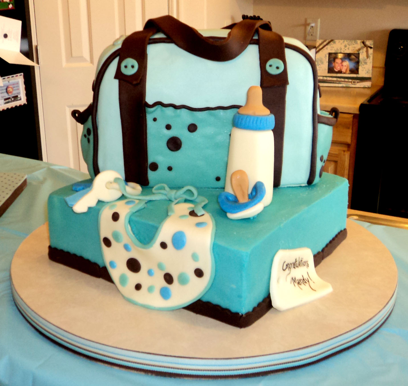Delectable Cakes: Baby Shower Diaper Bag Cake